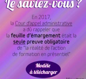 FEUILLE D'ÉMARGEMENT
