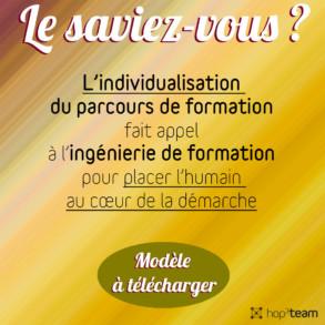 PERSONNALISATION DU PARCOURS DE FORMATION